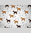 awesome seamless pattern with cute cartoon dogs vector image vector image