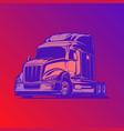 big rig modern truck blue red vector image vector image