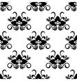 Black floral arabesque seamless pattern vector image