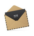 brown kraft envelope with black dashes vector image