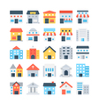 Building Colored Icons 5 vector image vector image