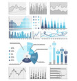 business data flowcharts visual info presentatio vector image vector image