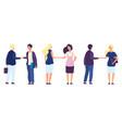 business partnership businessmen vector image