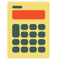 calculator icon isolated on vector image