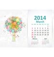 calendar 2014 3 03 vector image vector image