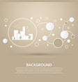 city icon on a brown background with elegant vector image