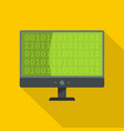 code icon flat style vector image vector image