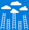 competition concept clouds with ladders stock vector image vector image