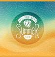 creative summer label vector image vector image
