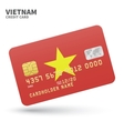 Credit card with Vietnam flag background for bank vector image vector image