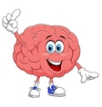 Cute brain cartoon character pointing vector | Price: 1 Credit (USD $1)