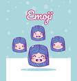 cute girls emojis vector image vector image