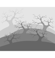 Dead trees poor environment the apocalypse vector image