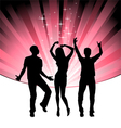 disco dance young people vector image vector image