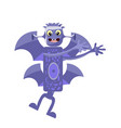 drawing a good monster childish bat hybrid in vector image vector image