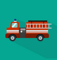 fire truck icon set of great flat icons with vector image