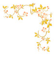 floral decorative corner pattern on white vector image vector image