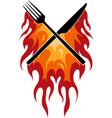 fork knife restaurant with vector image