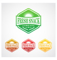 Fresh Snack Badge Symbol vector image vector image