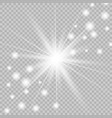 glow light explodes vector image