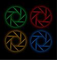 Glowing aperture vector image