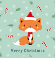greeting pattern with fox vector image vector image