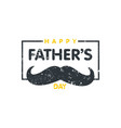 happy fathers day stamp lettering happy fathers vector image
