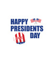 happy presidents day sale in flat design vector image vector image