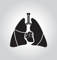 Heart lung symbol vector image vector image