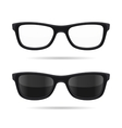 Hipster Glasses Set Transparent and Sunglasses vector image