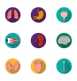 Human organs set icons in flat style Big vector image vector image