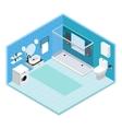 Interior Bathroom Composition vector image vector image
