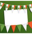 irish party card vector image vector image