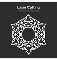 Laser Cutting Template Christmas Round Card Die vector image