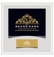 letter v logo design concept royal luxury gold vector image vector image