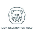 lion head line icon linear vector image vector image