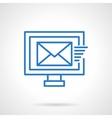 Mailing sign blue line icon vector image