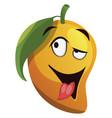 mango cartoon crazy feeling on white background vector image vector image