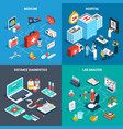 medical isometric 2x2 design concept vector image vector image