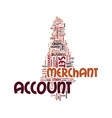 merchant account set up text background word vector image vector image