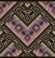 modern geometric greek key meanders seamless vector image vector image