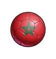 moroccan flag football - soccer ball vector image vector image