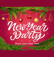 new year party - modern realistic vector image
