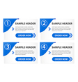 Option Banners with Order Button vector image vector image