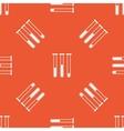 Orange test-tubes pattern vector image vector image