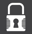 padlock solid icon security and lock vector image