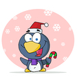 Penguin In The Snow vector image vector image
