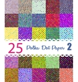 polka dot paper set 25 seamless patterns vector image