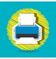 printer icon design vector image vector image