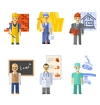 Profession Characters Set vector image vector image